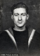 Jon Pertwee in navy
